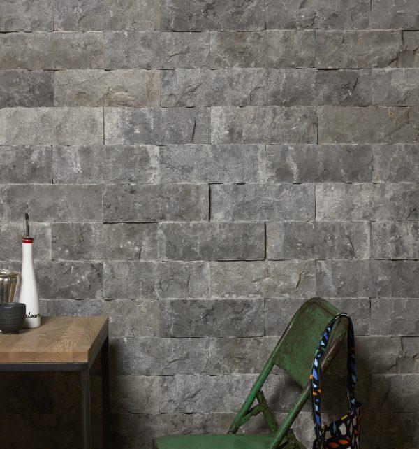 Rockface Brick Zuber Limestone Feature Wall