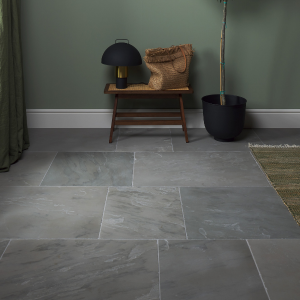 Salcombe Sandstone Seasoned Finish In A Reception Room