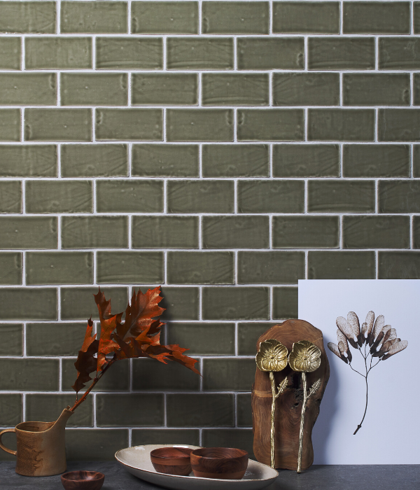 Seaton Ceramic Sage Wall Tiles