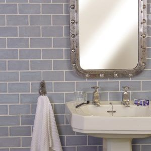 Seaton Ceramic Sky Bathroom Wall Tiles