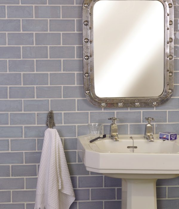 Seaton Ceramic Sky Bathroom Wall Tiles