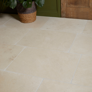 Swanage Limestone Tumbled Finish in contemporary home