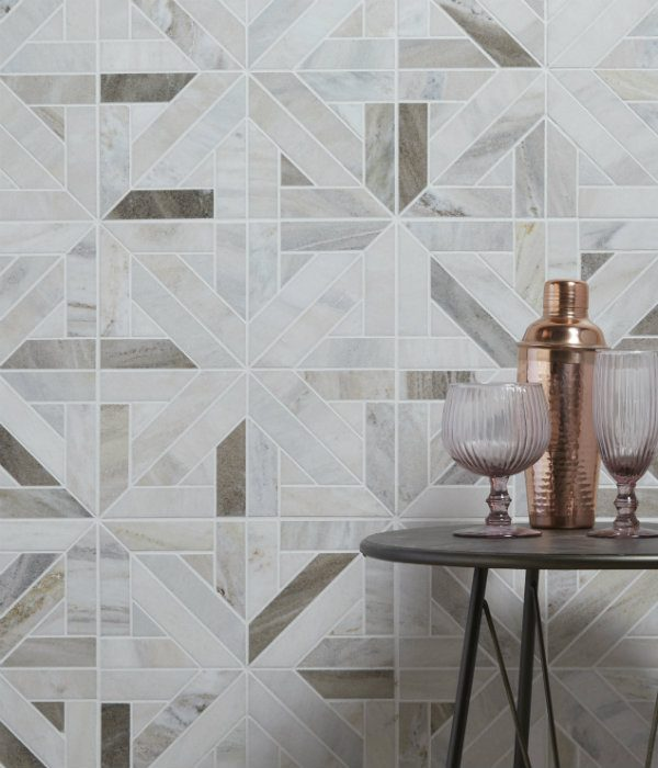 Tokyo Lattice Marble Mosaic Tiled Wall