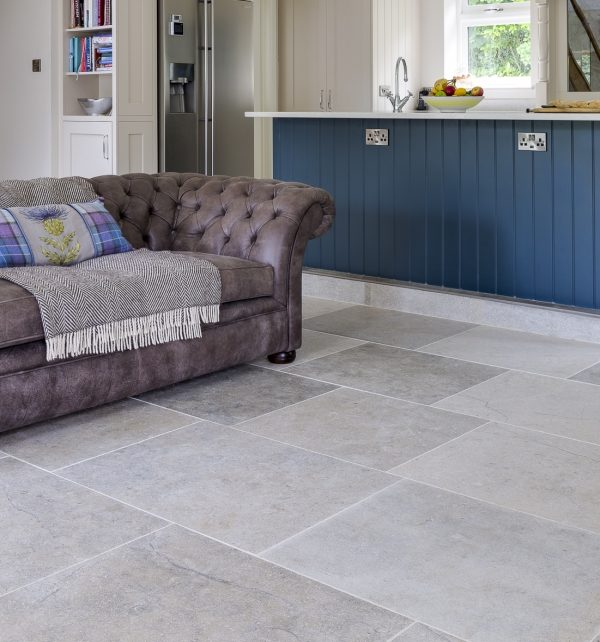 Weltzner Limestone Satino Finish within a open plan living room