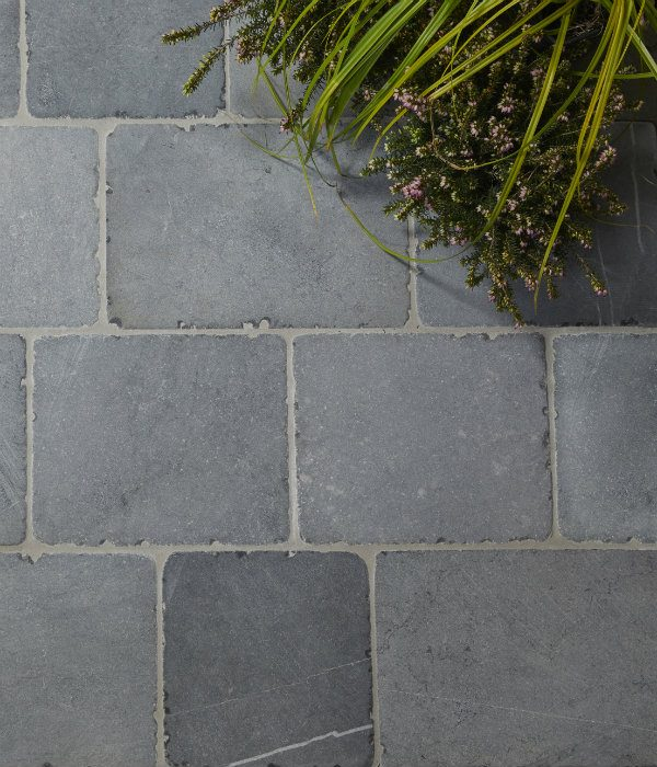 Wexford Blue Limestone Cobble Tumbled Finish Birds Eye View