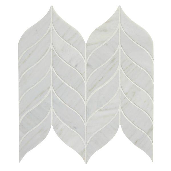 Zen Leaf Marble Mosaic Close Up