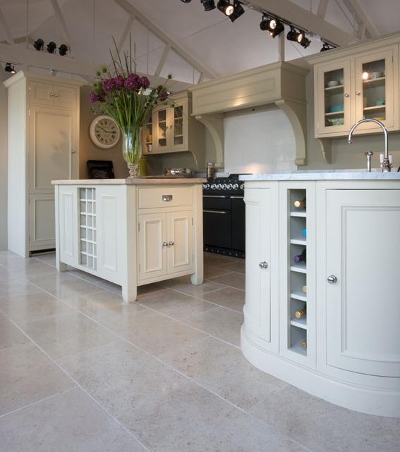 Zenna Limestone Honed Finish in a beautiful kitchen surrounding