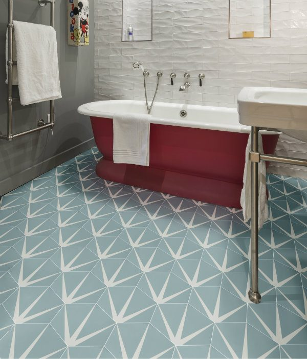 Lily Pad Porcelain Bathroom Floor Pistachio.png