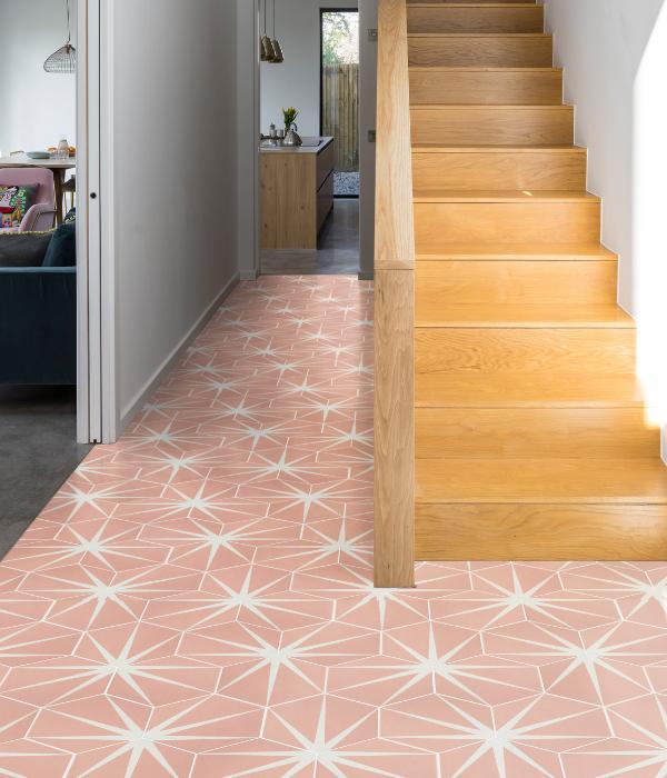 Lily Pad Porcelain flooring in Bubblegum