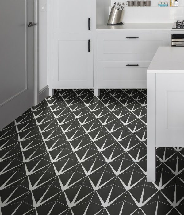 Lily Pad Porcelain kitchen floor in Off Black.png